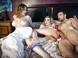 FamilyStrokes - Domineer Mom Caught Retrench Shacking up Daughter