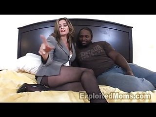 Older Women Secretary in Interracial Videotape