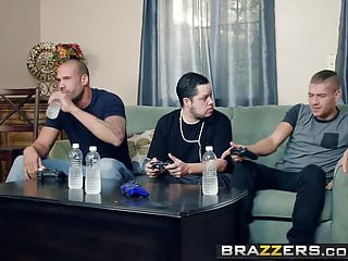 Brazzers - Mommy Got Chest -  My Entourage Fucked My Mom scene