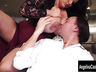 Cuban Italian Pornstar Threesome up Angelina Castro