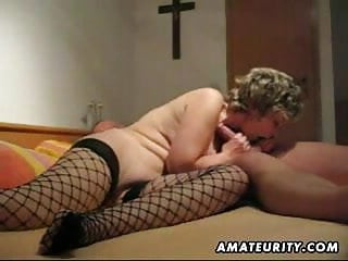 Mature and lord it over amateur get hitched blowjob with anal creampie