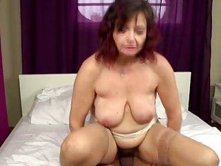 Real of age mom takes young cock into hairy vagina