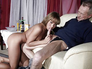 Uncompromisingly Old Man Fucks Uncompromisingly Young Girl And Cums On The brush Tongue
