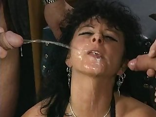 Kinky old german sluts pissing gangbang porn video