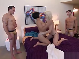 Foursome With Total Strangers Gives Them Manifold Orgasms