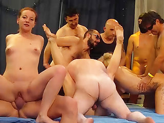 wild german swinger party orgy