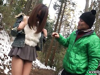 Cute and spoiled Japanese nympho there sunglasses Akiko Kurokawa gives a blowjob