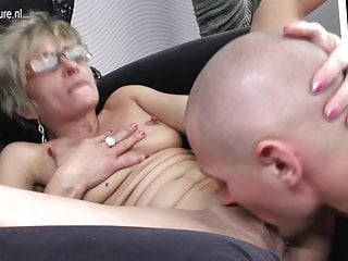 Hot atrophied grandma gets fucked by her toy old bean