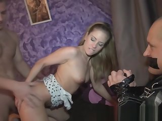 Cuckolding gf fucked deeply in front of bf