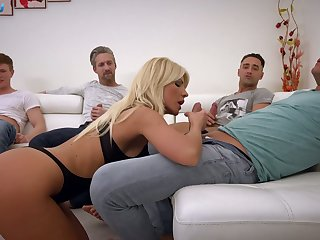 Kinky Hungarian shove around blonde Tiffany Rousso is obtainable to work on dicks