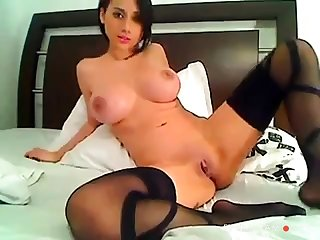 Erotic Colombian Fingers & Toys Ass On Cam
