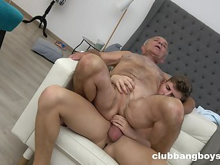Superannuated man enjoys anal sex with a much younger guy
