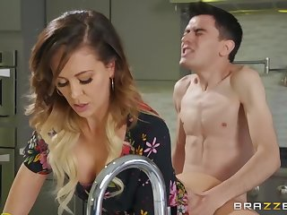 Pervert guy fucked sexy stepmom Cherie Deville beyond everything the bed