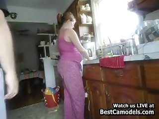 Meaningful Wife Fucked Approximately Kitchen From Behind Cam