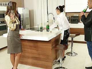 Unconventional foursome sex in the office with amazing models Marica increased by Sophie