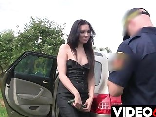 Outdoor sex with Polish cops