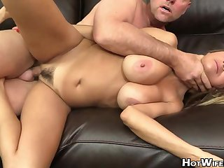 Molten, married light-haired went fro a porno vid audition just fro get a decent tear up