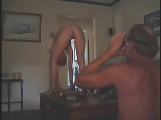 My gymnast wife loves getting fucked on the couch and she is quite hot