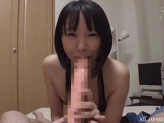 Japan cutie sucks gumshoe and rides euphoria in flawless POV