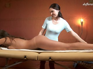 Russian adult virgin Marusya Mechta enjoys intimate massage