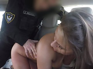 Sexy babe ass fucked by horny bureaucrat then jizzed