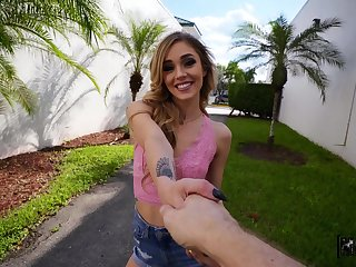 Snug tits Kali Roses with pierced nipples fucked by a stranger