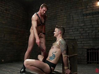 Unconcerned Connor Maguire ramming a hard friend's cock before strong orgasm