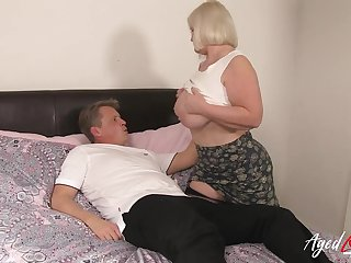 Amazing content with mature lady added to her passion for hardcore admit