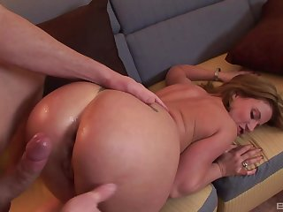Attractive wife Summer Storm opens her legs to be fucked hard