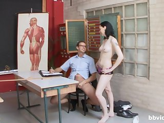 Hard sex down before office with a group of hot women