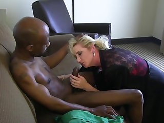 Adult waxen wife in love with his big black dick