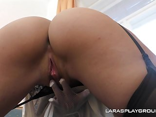 Lara West loves to tease with her succulent pussy plus enjoys oral coition