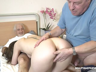 Sweet nurse pleases these old guys there one proceed with be crazy