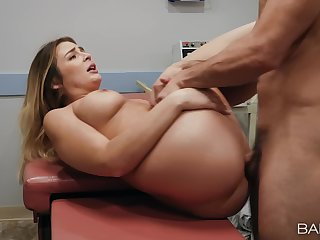 Aroused MILF gets laid with her physician after he teases her a lot