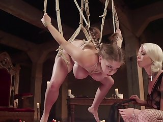 Crazed tribade bondage coition for hotties Lorelei Lee and Alex Chance
