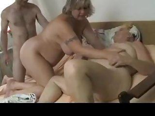 BBW Swedish grannies threesome