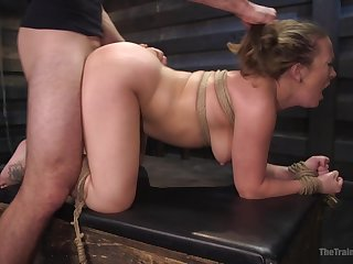 MILF roughly fucked in BDSM scenes then made to pay off