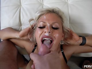 Hardcore shacking up in doggystyle with facial for Cashca Akashova