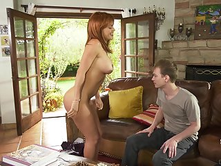 Fit thick MILF Krissy Lynn fucks some nerd and makes him rendered helpless her cunt