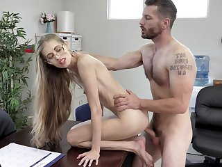 Most amazing hard fucking within reach the office for the skinny secretary