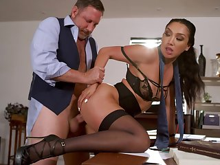 Full anal sex with my secretary after the program