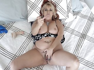 Chubby midget MILF all round idiotic POV home scenes of real porn
