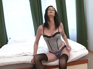 Black stud inserts his prick just about pussy and ass be expeditious for cougar Laura Dark