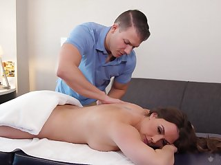 Mommy likes it in doggy style and the masseur knows that