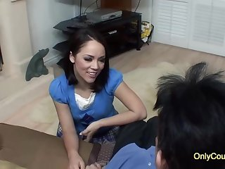 Seductive brunette adjacent to a nice, round ass, Kristina Rose is shafting her spoken be advisable for neighbor, be advisable for cardinal