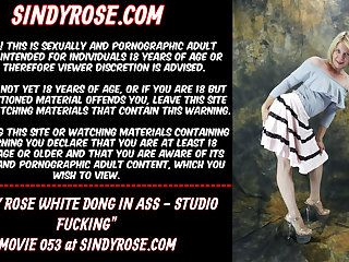 Sindy Rose White dong in the ass - studio fucking