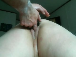 My wife loves anal fisting and she loves clean out when I fuck with the brush sex toys