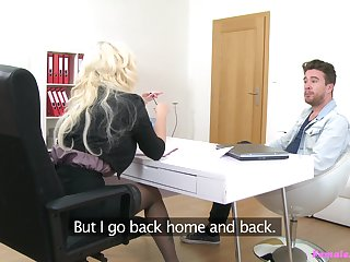 Lady agent Jarushka Ross tests out a young commissioner in her slot