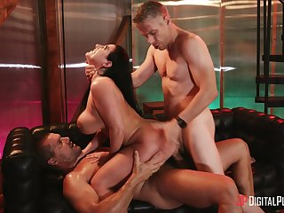 Two throbbing cocks rally out someone's skin best in all directions sexy Angela Namby-pamby