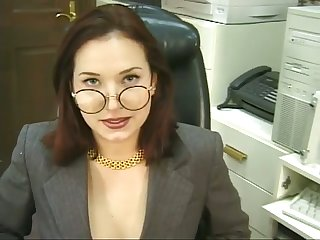 This sexy call-girl is a real office slut and she loves to masturbate for me